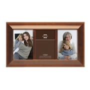 Prinz 3 Opening Mandalay Solid Wood Picture Frame; Walnut