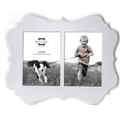 Prinz 2 Opening Annabelle Veneer Wood Picture Frame; White