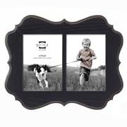 Prinz 2 Opening Annabelle Veneer Wood Picture Frame; Black