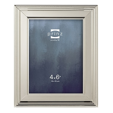 Prinz Clybourn Metal Picture Frame; 4'' x 6''