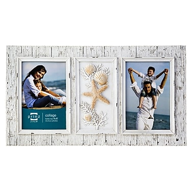 Prinz Seashells and Starfish Sand Piper Two Opening Picture Frame