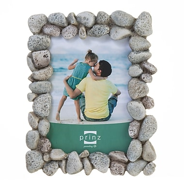 Prinz Beach Rocks Wood Picture Frame; 4'' x 6''
