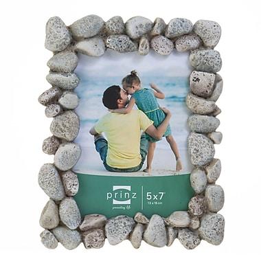 Prinz Beach Rocks Wood Picture Frame; 5'' x 7''