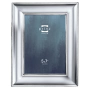 Prinz Silhouette Matte Silverplated Picture Frame; 5'' x 7''