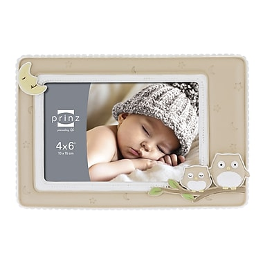 Prinz Sweet Dreams 'Owl' Resin Picture Frame; Natural