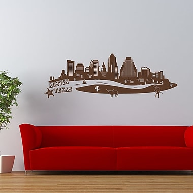 Style and Apply Austin Skyline Wall Decal; Light Pink