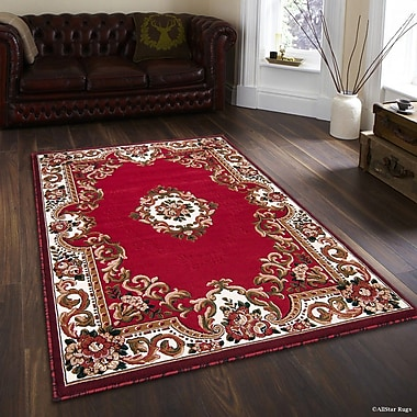 AllStar Rugs Hand-Woven Red Area Rug; 5'2'' x 7'2''