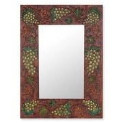 Novica Italian Vineyard Leather Mirror