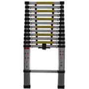 OxGord 12.5 ft Aluminum Telescoping Extension Ladder w/ 330 lb. Load Capacity