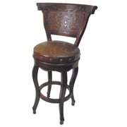 New World Trading Colonial 30'' Swivel Bar Stool; Antique Brown