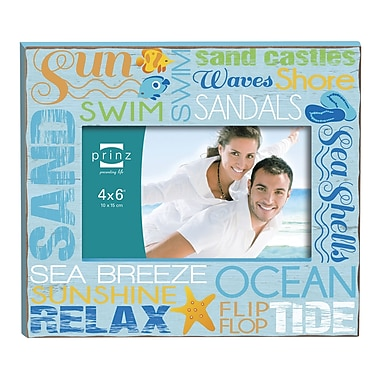 Prinz Sunkissed Typography Design Picture Frame; Blue