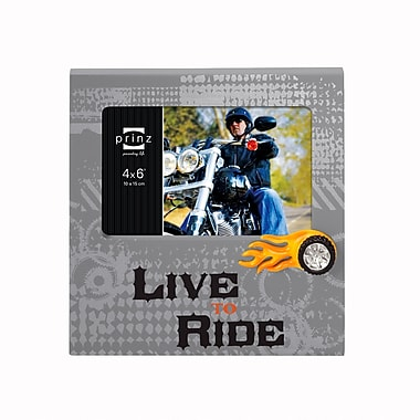 Prinz Flaming Wheel 'Live to Ride' Picture Frame