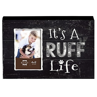 Prinz Talk To The Paw 'It's A RUFF Life' Wood Photo Plaque Picture Frame