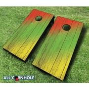 AJJCornhole 10 Piece Cornhole Set; Red/Yellow