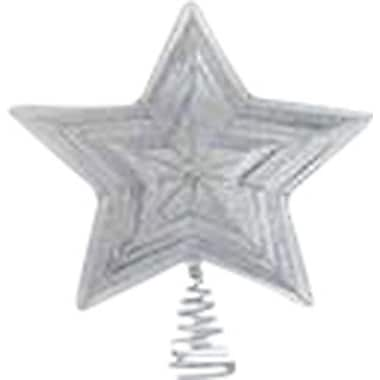 Frantic Fern Star Design Wire Tree Topper; Silver