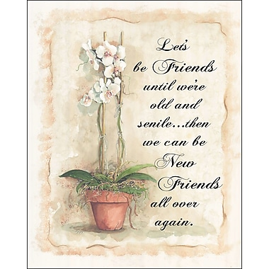 LPGGreetings Life Lines Let's Be Friends by Peggy Abrams Graphic Art Plaque
