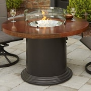 The Outdoor GreatRoom Company Colonial Fiberglass Gas Dining Fire Pit Table