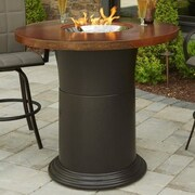 The Outdoor GreatRoom Company Colonial Fiberglass Gas Pub Fire Pit Table
