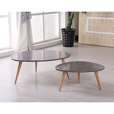 Container Isabella 2 Piece Coffee Table Set; Grey