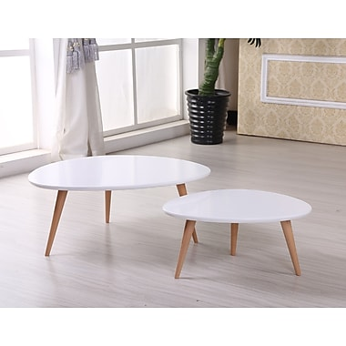 Container Isabella 2 Piece Coffee Table Set; White