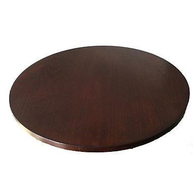 Container Wood Lazy Susan; Brown