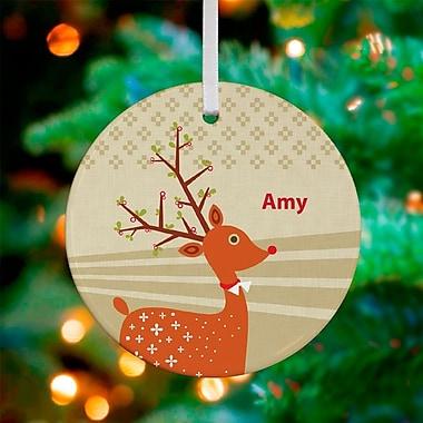 GreenBox Art Doe Eyed Deer Personalized Ornament by Carmen Mok