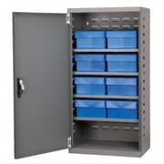 Akro Mils 38''H x 19.25''W x 13.25''D 8 Drawer Storage Cabinet; Gray/Blue