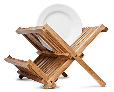 Axis International Bamboo Folding Dish Rack