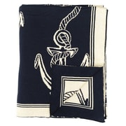 Darzzi Rope and Anchor 100pct Combed Cotton Throw