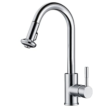 Dawn USA Single Lever Handle Kitchen Faucet w/ Pull Down Spray; Chrome