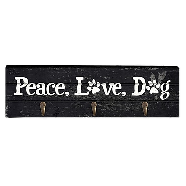 Prinz Talk To The Paw 'Peace, Love, Dog' Wall Hook