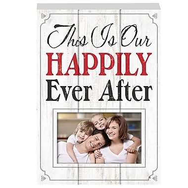 Prinz More Than Words 'This Is Our Happily' Photo Plaque Picture Frame