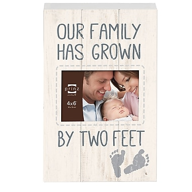 Prinz Tender Moments 'Our Family Has Grown By Two Feet' Photo Plaque Picture Frame