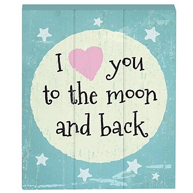 Prinz Baby on Board Tender Moments 'I Love You To The Moon And Back' Box Textual Art Plaque