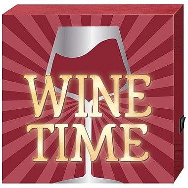Prinz ''Wine Time'' LED Textual Art Plaque