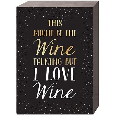 Prinz ''I Love Wine'' Textual Art Plaque