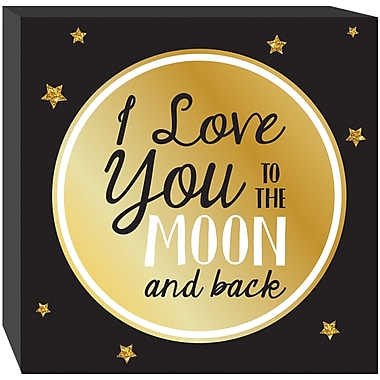 Prinz ''Love You to The Moon and Back'' Textual Art Plaque