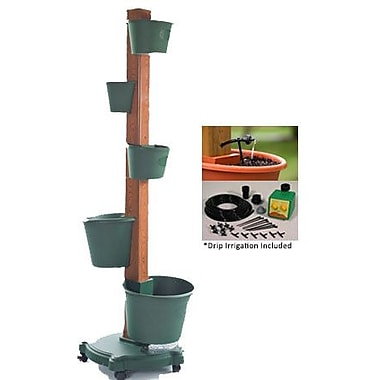 My Garden Post Plastic Vertical Garden; Hunter Green