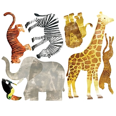Wallies Wild Animals Wall Decal