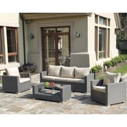 JB Patio Patio Wicker 4 Piece Seating Group w/ Cushions