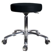 Perch Chairs & Stools Height Adjustable Swivel Stool; Black Vinyl