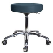 Perch Chairs & Stools Height Adjustable Swivel Stool; Colonial Blue Vinyl