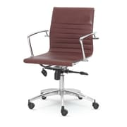 Winport Industries Winport Mid-Back Desk Chair; Brown
