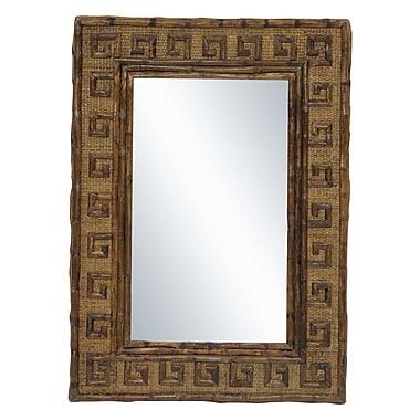 Kenian Coastal Chic Greek Key Mirror