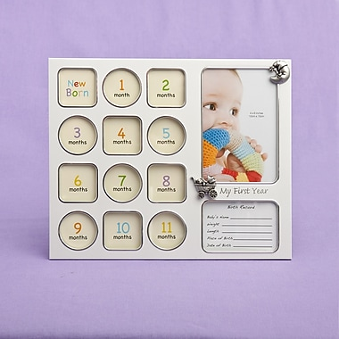 FashionCraft My First Year Baby Photo Collage Picture Frame