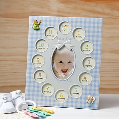 FashionCraft Baby Boys First Year Collage Picture Frame