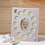 FashionCraft Baby Girls First Year Collage Picture Frame