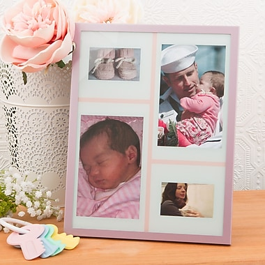FashionCraft Baby Girl Collage Aluminium Picture Frame
