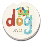 CounterArt Absorbent Stone Dog Lover Car Coaster (Set of 2)