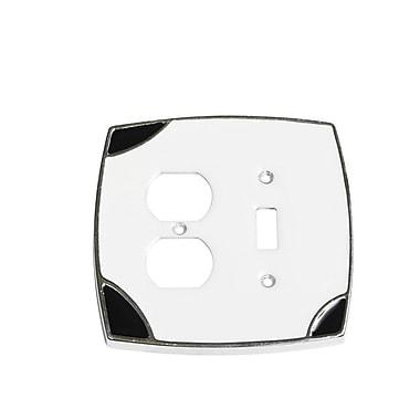 Windborne Studios Lumino Single Toggle/Duplex Receptacle Switch Plate; White/Black